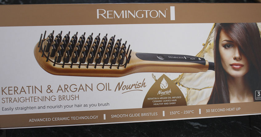 Remington Keratin & Argan Oil Nourish Straightening brush by Lena Talks Beauty