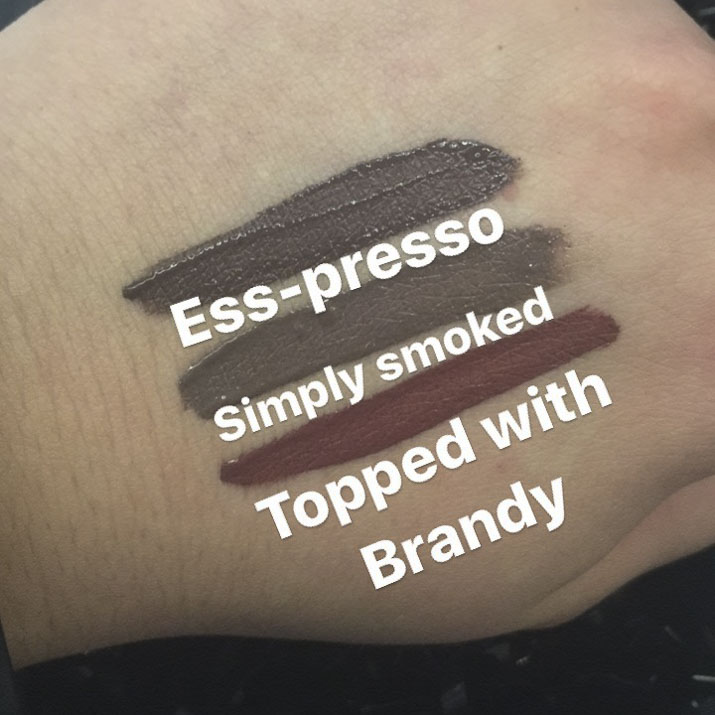 MAC Retro Matte Liquid LipColours ess-presso, simply smoked, topped with brandy