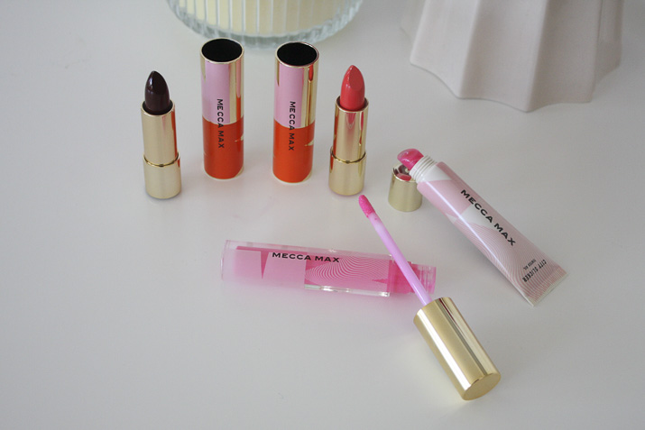 Mecca Max Pout Pop Lipstick, Gloss Boss Lipgloss, City Slickers Tinted Oil review by Lena Talks Beauty