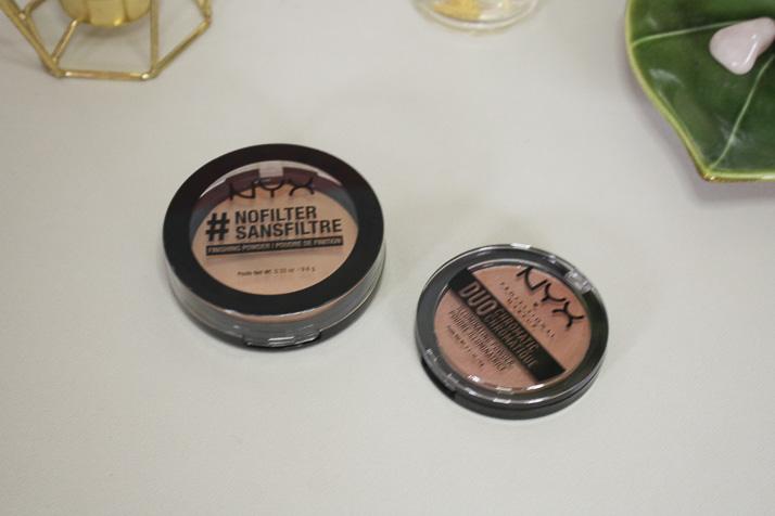 NYX no filter finishing powder and NYX duo chromatic blush - Lena Talks Beauty