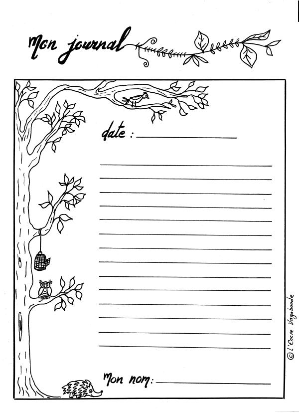 Fiche bujo - Page de journal - l'encre vagabonde
