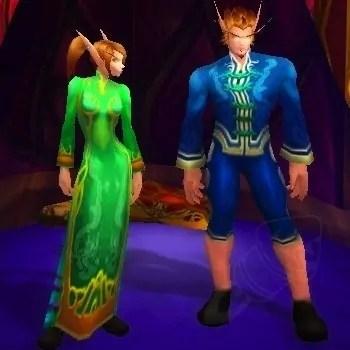 Vestido Festivo Verde e Conjunto Festivo Azul | World of WarCraft, WarCraft, wow, azeroth, lore