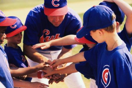 Kids Cubs baseball-coaching