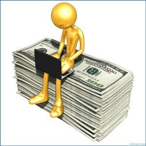 stick figure on cash