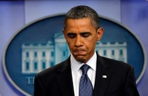 Tổng thống Obama tại một buổi họp báo ở Nhà Trắng (Reuters)