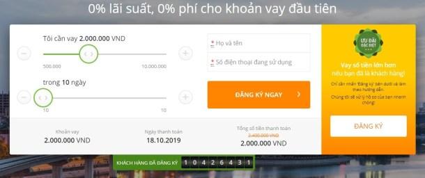 Vay tiền Doctor Đồng lãi suất 0%