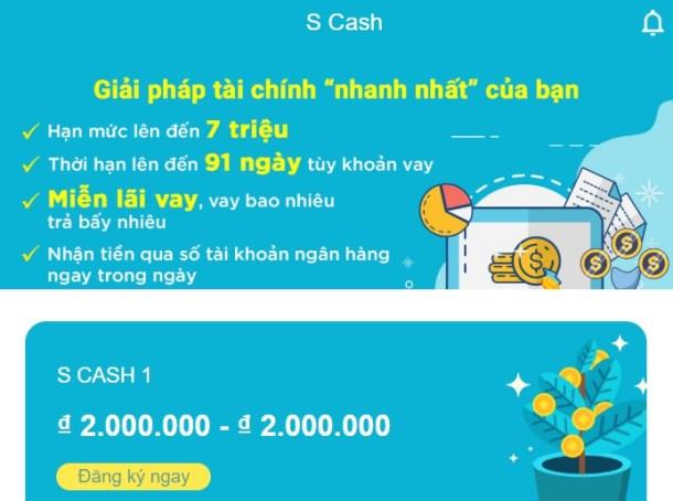 Vay Tiền SCash Online, Giải Ngân Nhanh Trong Ngày 5