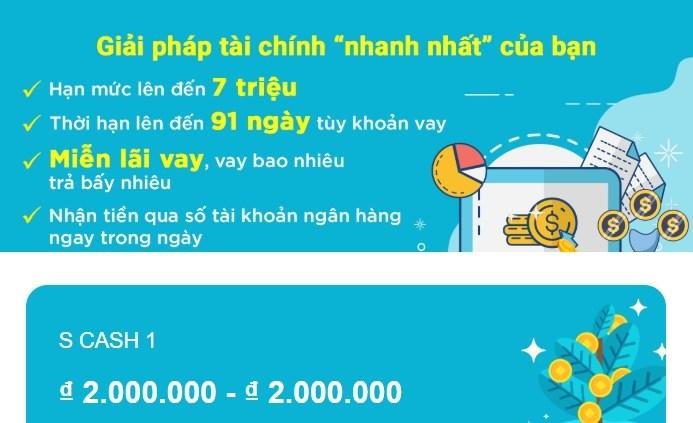 Vay Tiền SCash Online, Giải Ngân Nhanh Trong Ngày 1