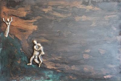 bronzebillede_kunst_bronzeskulptur_lene_purkaer_stefansen_varemaerkebeskyttet_vejen _mod_toppen_er_sej