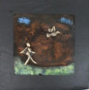 bronzebillede_kunst_bronzeskulptur_lene_purkaer_stefansen_varemaerkebeskyttet_spring_ud_og_flyv_paa_lette_vinger_som