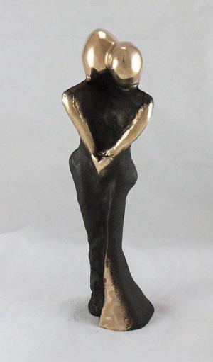 en_bronzeskulptur_lene_purkaer_stefansen_bronzefigur_kunst_skulpturer_En_dans_med_kun_os_to