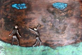 bronzebillede_lenepurkaer_Et_lille_skridt_er_ogsaa_et_skridt