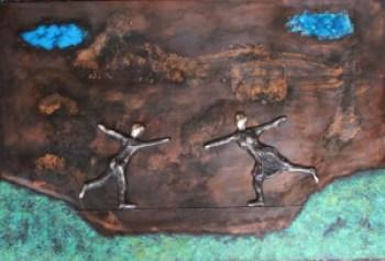 bronzebillede_lenepurkaer_formmelse_for_at_holde_balancen_i_livets_linedans