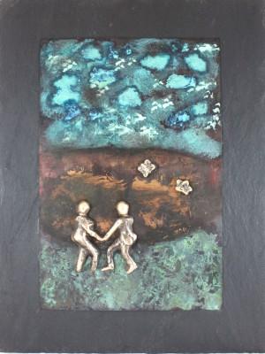 bronzebillede_lene_purkaer_stefansen_En_dans_sammen_ud_i_det_blaa