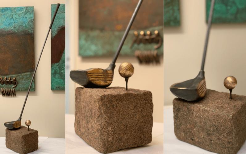 Til golfspilleren – en driver i fuld størrelse støbt i bronze