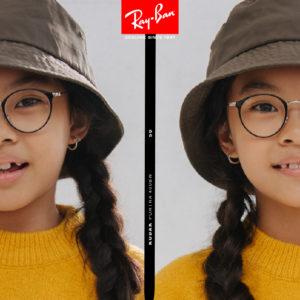 enfant portant des lunettes optiques Ray-Ban LENETA
