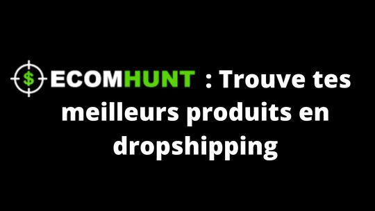 EcomHunt : trouve tes meilleurs produits en dropshipping.