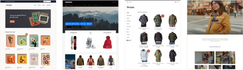 pick a theme for you mono product store