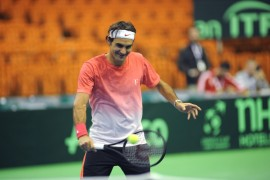 Federer at the Davis Cup
