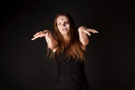 Zombie Le News/royalty-free-stock-photography-zombie-woman-black-dress-image11652837