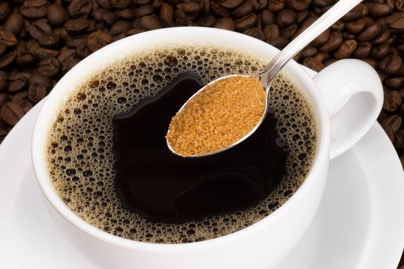 Diet sabotage sugar in coffee