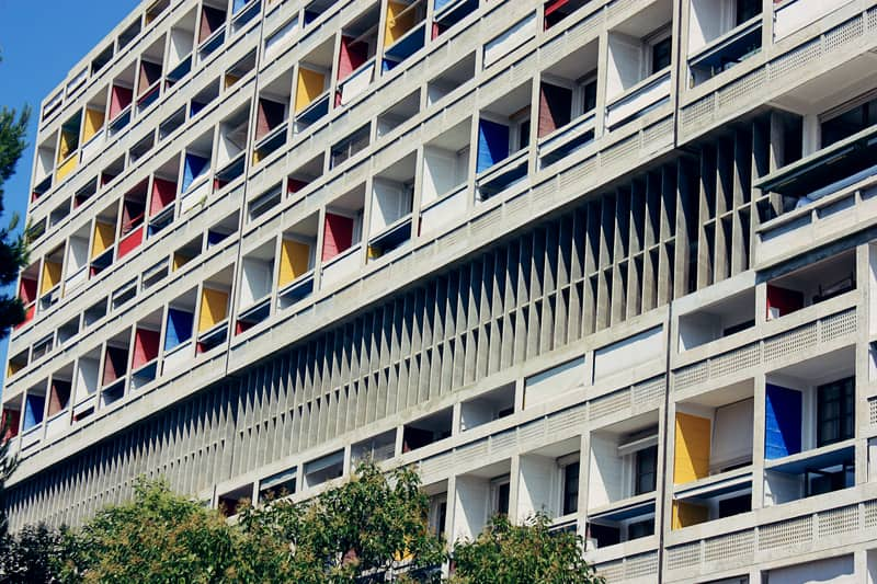 The Cite Radieuse by Le Corbusier in Marseille, France.