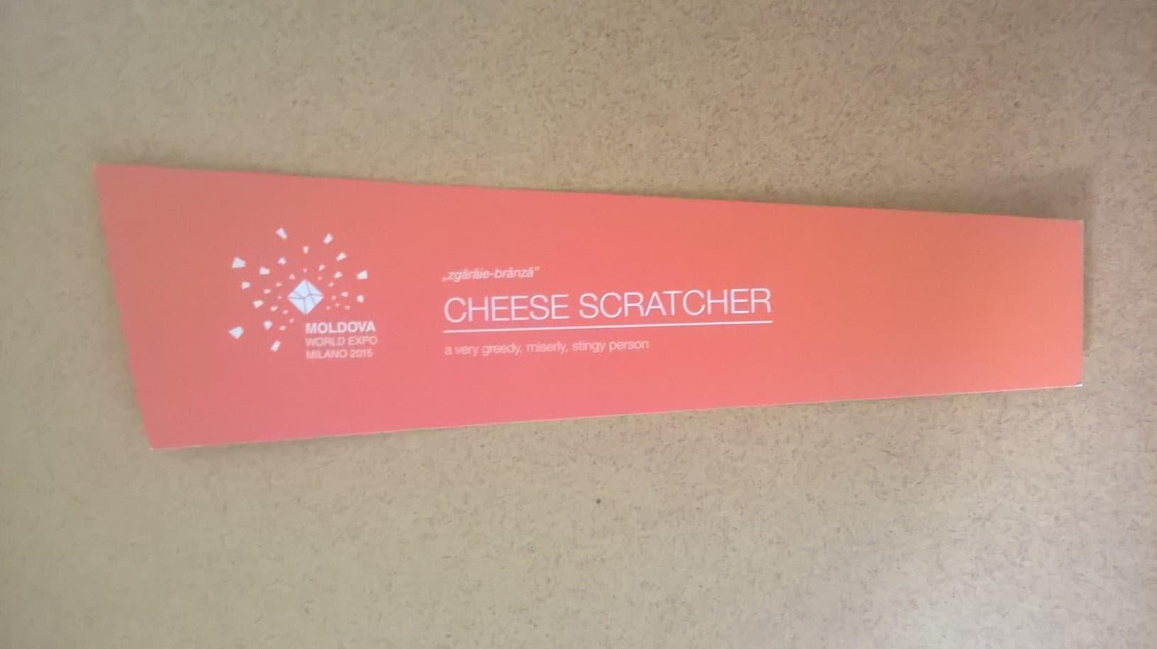 Cardboard cheese scratcher