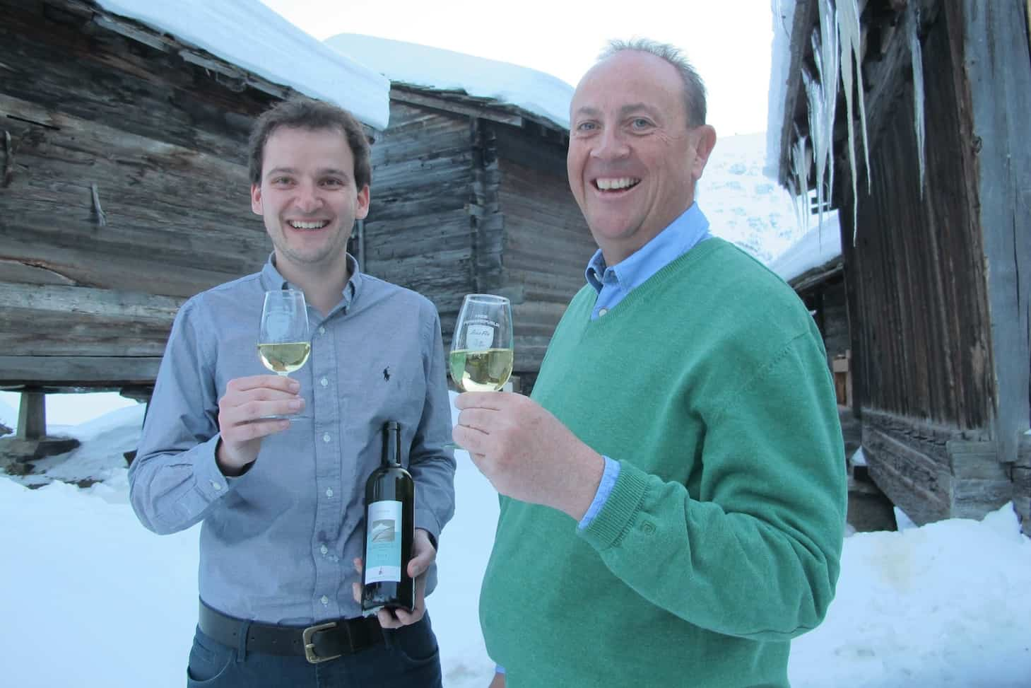 Pascal and Roger sampling the latest vintage
