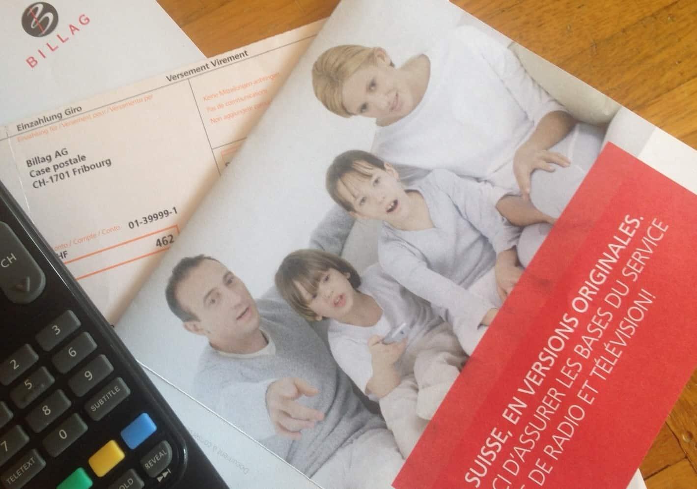 TV licence bill in Switzerland