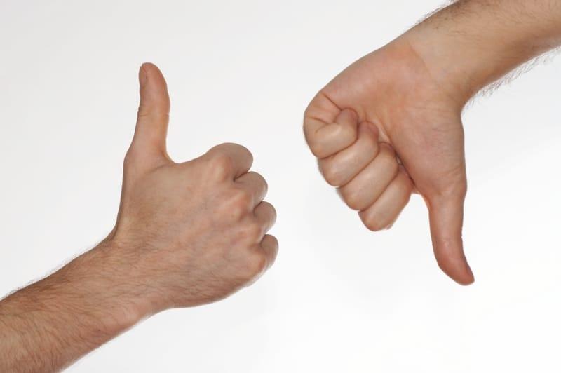 Thumbs up thumbs down Swiss Rostigraben