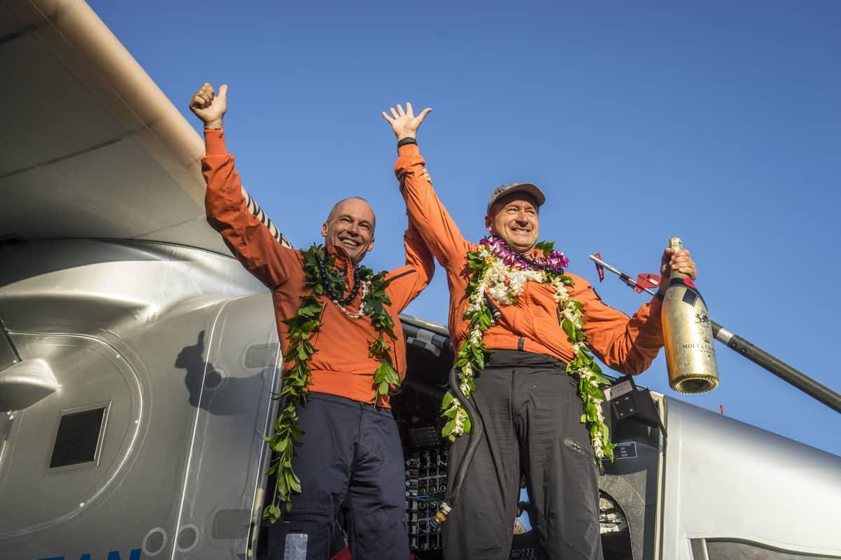 Celebrating in Hawaii - Copyright Solar Impulse