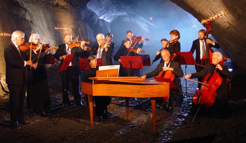 A mine concert