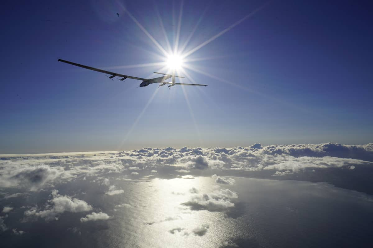 Solar impulse takes off 21 April 2016 - copyright Solar Impulse