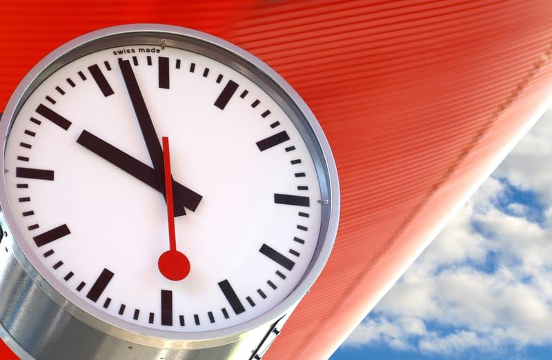 Swiss Rail clock - © Shuttlecock | Dreamstime.com