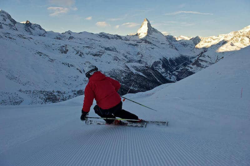 Skiing at Zermatt - Source: Facebook