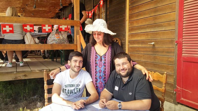 Dersim with his mother and brother
