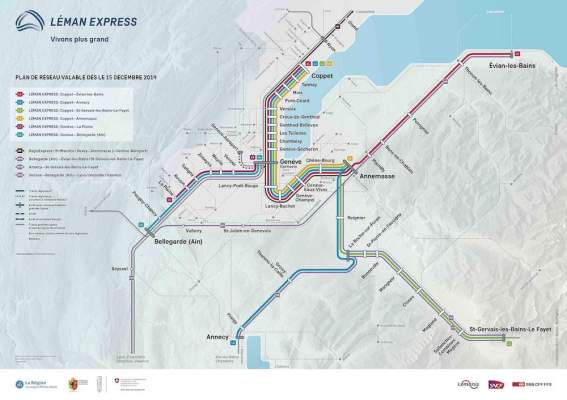 Léman Express map