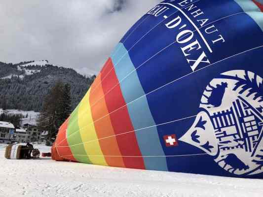 International hot air balloon festival takes to the sky in Swiss Alps 2020