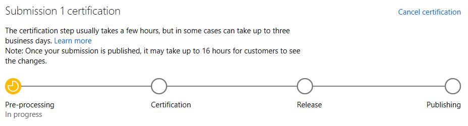 Procesando nuestra aplicación en la Windows Store