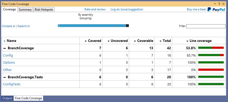 Viendo el code coverage con la extensión FineCodeCoverage el mejor recurso de .NET para ver la cobertura del codigo en Visual Studio por proyectos