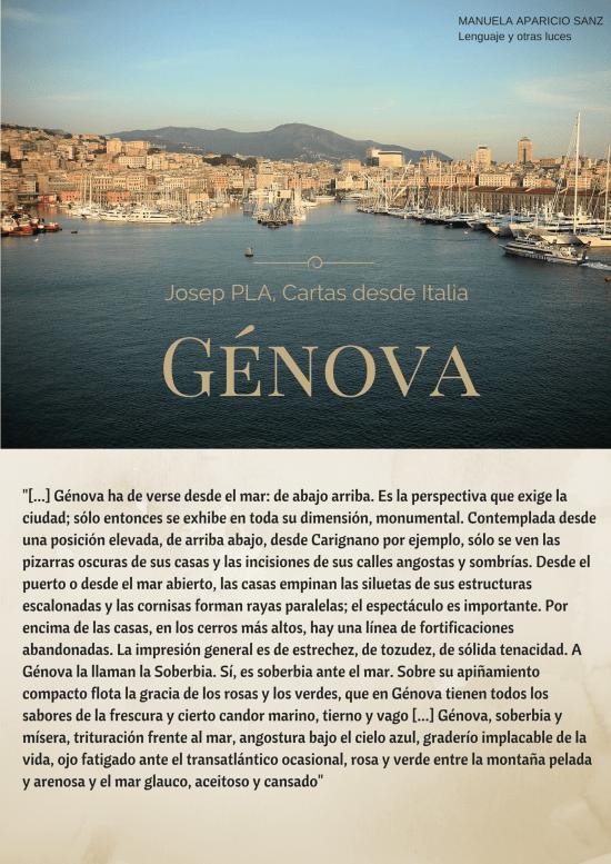 """""""Génova ha de verse desde el mar- de"""