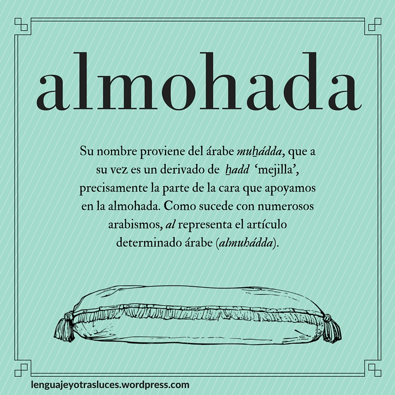Etimologia almohada. Origen palabras