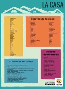 Vocabulario casa. Léxico ELE