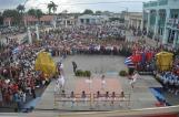 una representación del pueblo de Camaguey acudió a la Plaza de la Libertad