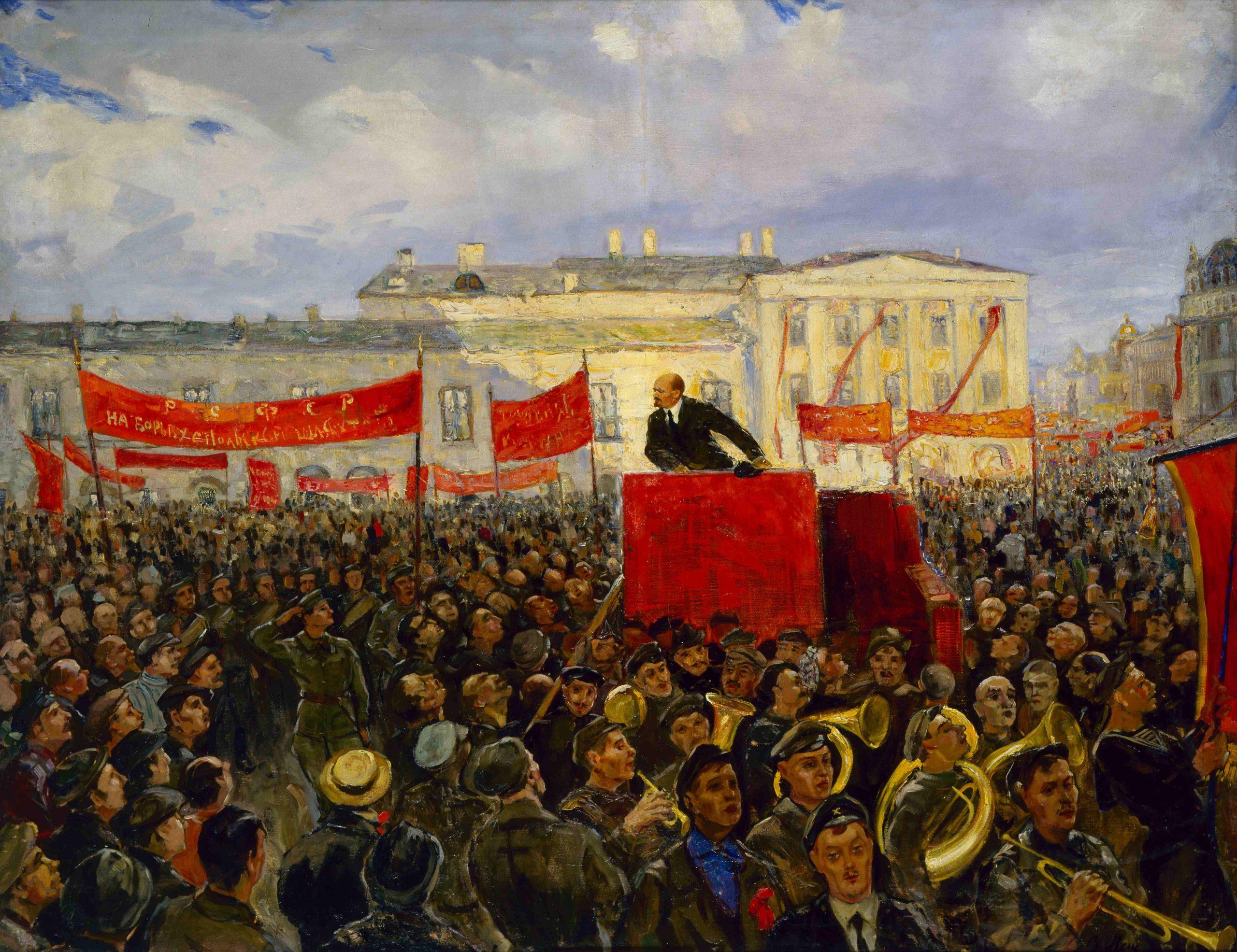 Картина «Выступление В.И. Ленина на проводах Красной Армии на польский фронт»