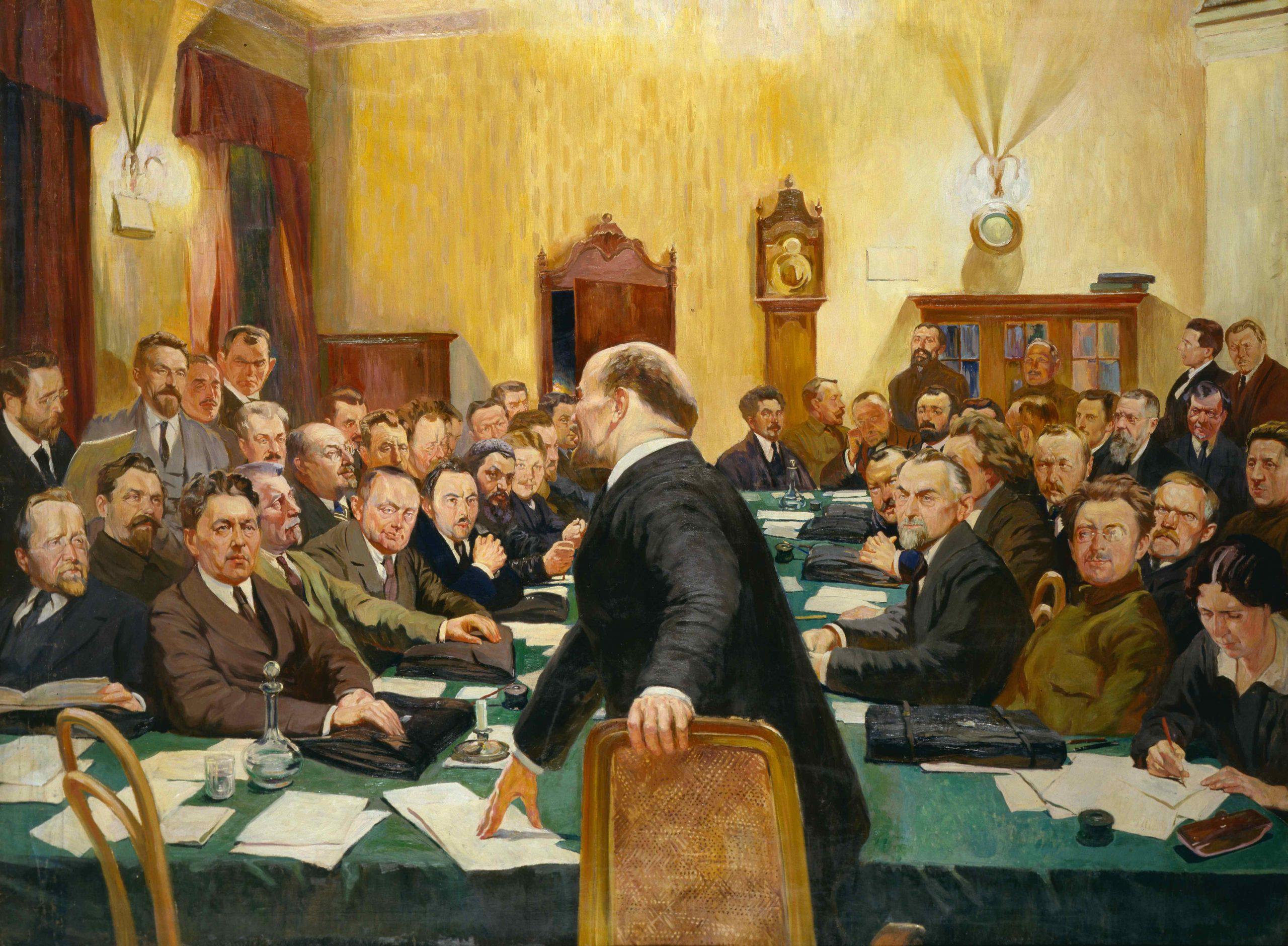 Картина «Заседание Совета Народных комиссаров под председательством В.И. Ленина» («Последнее заседание Совнаркома с В.И. Лениным»)