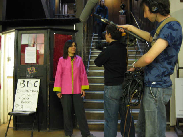 BBC Scotland interviews Leni Schwendinger at the Mack