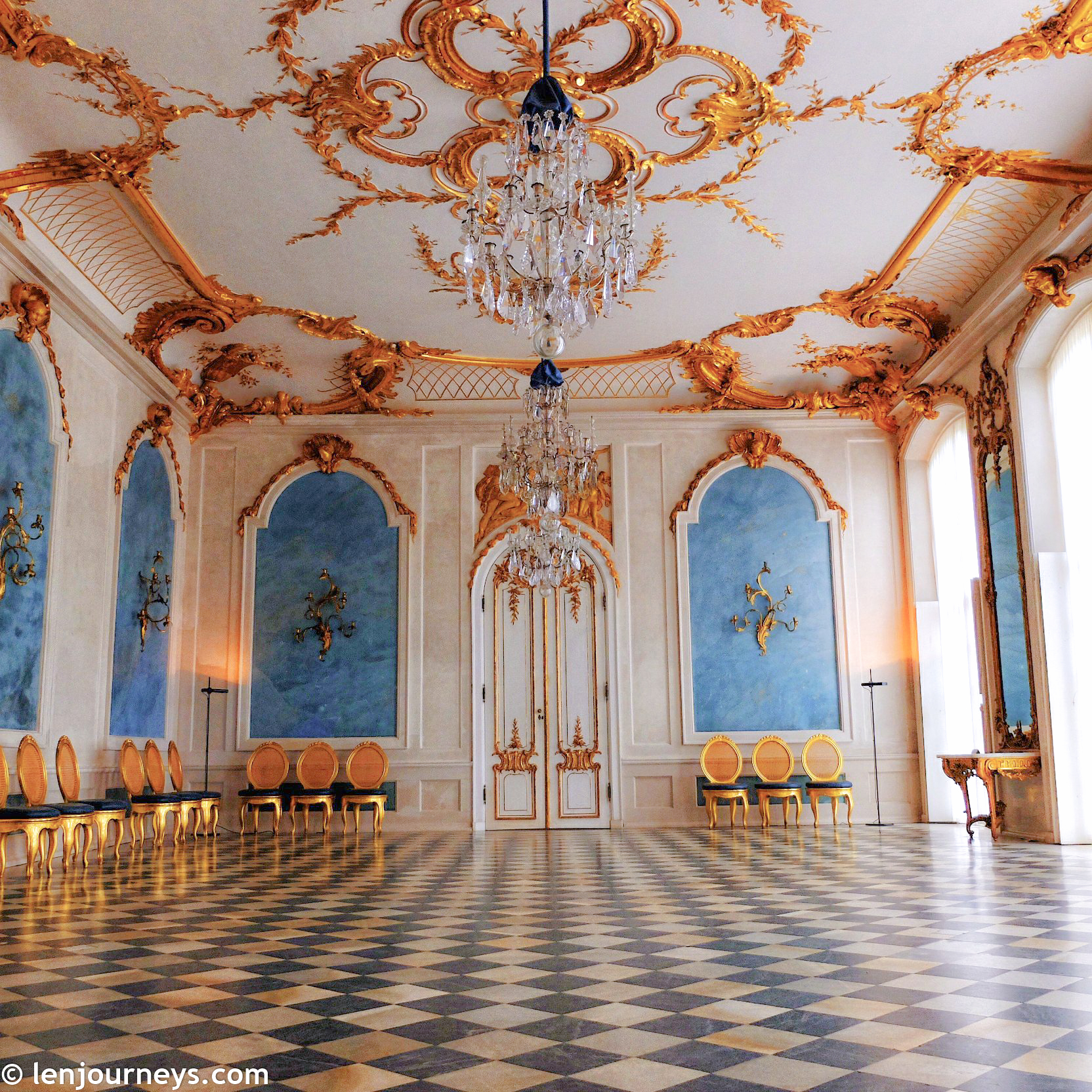 Prussia blue room in Sanssouci