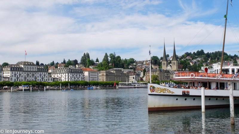 A cruise ship on Lake Lucerne