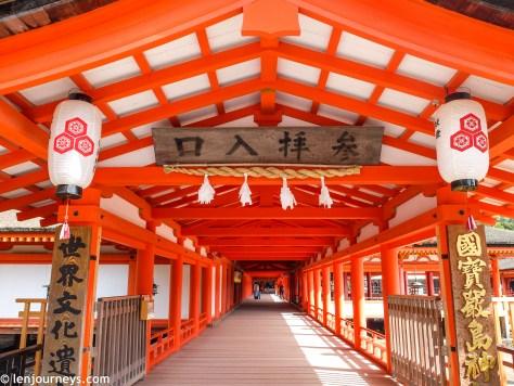 Entrance to Itsukushima Shrine
